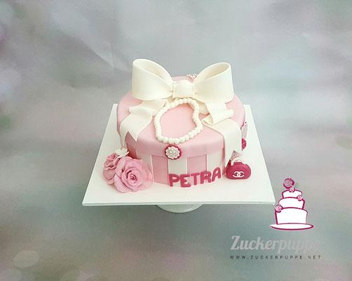 Rosarote Schmuckschatulle zum 40. Geburtstag von Petra