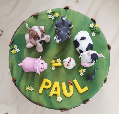 Bauernhoftorte zum 2. Geburtstag von Paul