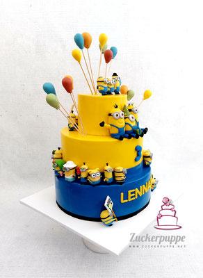 MinionTorte zum 3. Geburtstag von Lennard