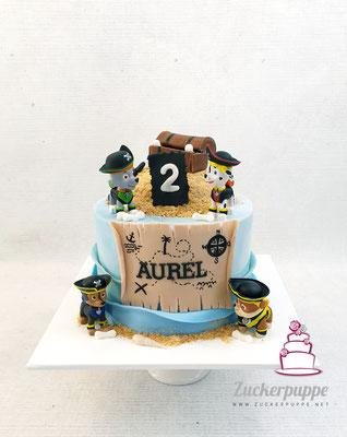 PawPatrol - Piratentorte zum zweiten Geburtstag von Aurel