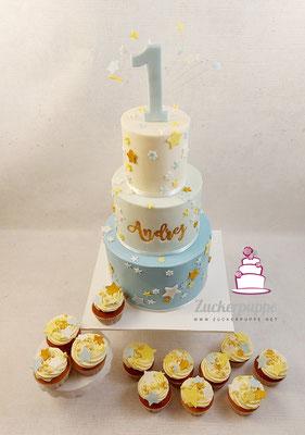 Sternentorte und Cupcakes zum ersten Geburtstag von Andrej