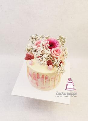 Rosa Dripcake zu meinem 27. Geburtstag