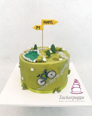Die Ostschweizer Hügel mit seinem Velo zum 71. Geburtstag von Hans