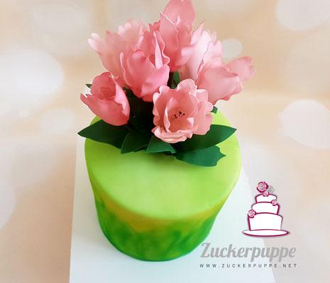 Tulpen zum 71. Geburtstag von meinem Grosi Emmi - auch wenn das Wetter nicht mitgespielt hat