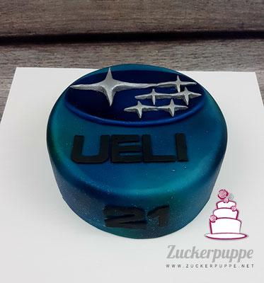 SubaruTorte zum 21. Geburtstag von meinem kleinen Bruder Ueli