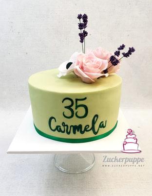 Frühlingsblumen aus Zucker zum 35. Geburtstag von Carmela