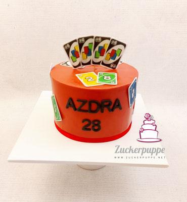 UNO Torte zum 28. Geburtstag von Azdra