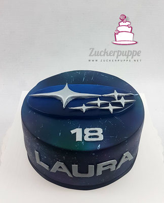 Subarutorte zum 18. Geburtstag von Laura
