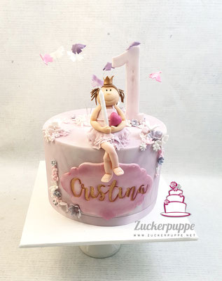 Prinzessin - Torte zum ersten Geburtstag von Cristina