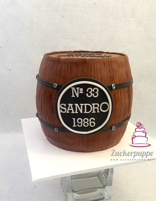 Whiskyfass zum 33. Geburtstag von Sandro