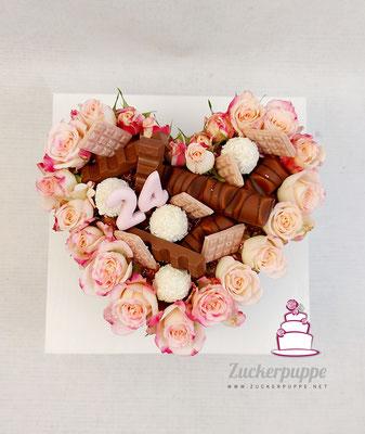 Lettercake in Herzform zum 24. Geburtstag von Djellza