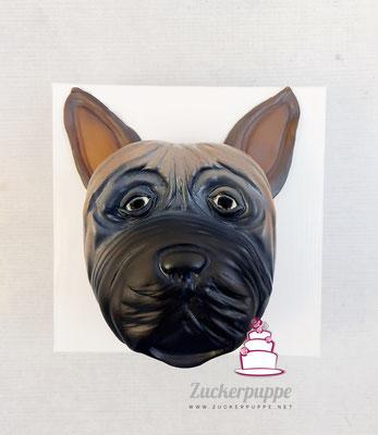 Französische Bulldogge zum 30. Geburtstag von Monika