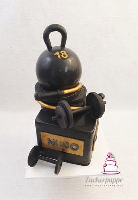 Crossfit Torte zum 18. Geburtstag von Nico