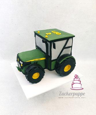 John Deere Traktor zum zweiten Geburtstag von Leo
