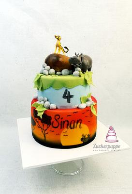 König der Löwen - Torte zum 4. Geburtstag von Sinan