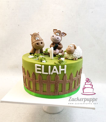 Bauernhof - Torte zum ersten Geburtstag von Eliah