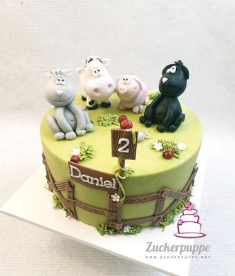 Bauernhoftiere zum zweiten Geburtstag von Daniel