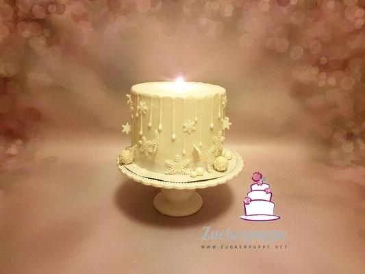 Kerzen - Torte zu Weihnachten