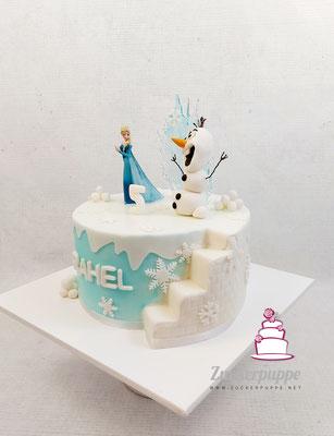 FrozenTorte zum 5. Geburtstag von Rahel