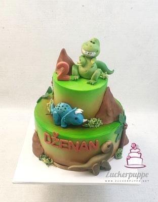 Dinotorte zum zweiten Geburtstag von Dženan