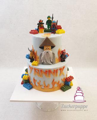 Ninjago-Torte zum 9. Geburtstag von Yannik