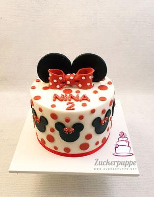 Minnie Mouse Torte zum zweiten Geburtstag von Nina