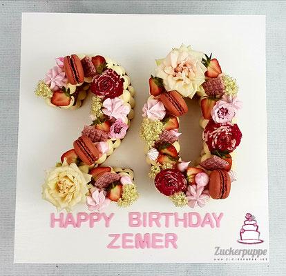 Numbercake zum 20. Geburtstag von Labinota