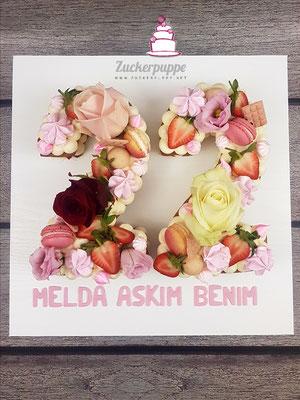 Caketrend 2018: Numbercake zum 22. Geburtstag von Melda