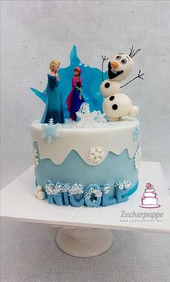 Elsa-Torte zum 4. Geburtstag von Nicole