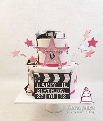 Hollywood - Torte zum 18. Geburtstag von Salomé