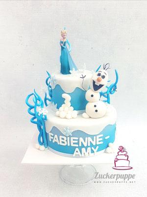 Frozen - Torte zum 3. Geburtstag von Fabienne - Amy