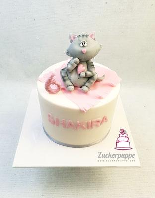 Ein getigertes Kätzchen zum 6. Geburtstag von Shakira