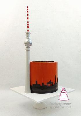 Berliner Fernsehturm mit Skyline zum Geburtstag von Melli