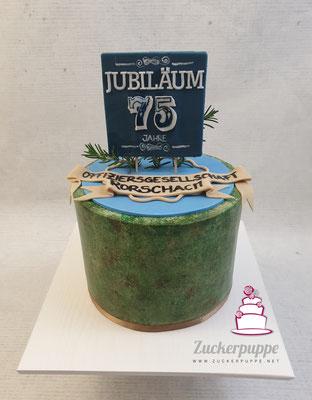 Jubiläums - Torte für das Weihnachtsessen der Offiziersgesellschaft Rorschach