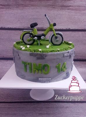 Töfflitorte zum 14. Geburtstag von Timo