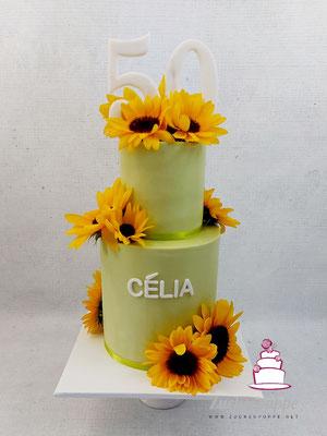 Sonnenblumentorte zum 50. Geburtstag von Célia