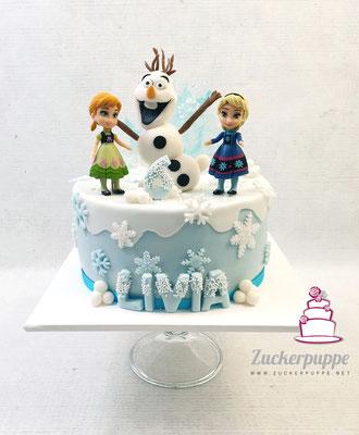 Frozen-Torte zum 6. Geburtstag von Livia