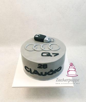 Audi Q7 Torte zum 28. Geburtstag von Claudio