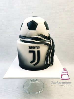 Fussball und Juventus Turin Logo zum 6. Geburtstag von Lorik