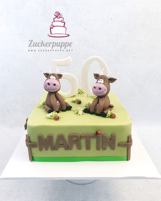 Zum 50. Geburtstag von Martin durfte ich zwei seiner Kühe nachmodellieren