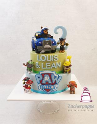 PawPatrolTorte zum zweiten Geburtstag von Luis und Lean