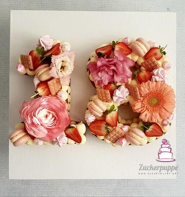 Numbercake zum 18. Geburtstag von Sofija