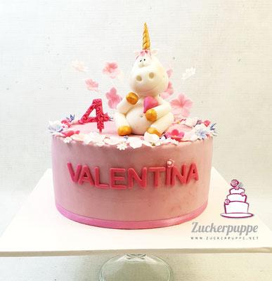 Einhorntorte zum 4, Geburtstag von Valentina