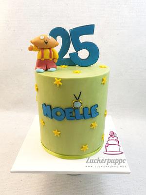Stewie von FamilyGuy mit passender Schriftart zum 25. Geburtstag von Noelle