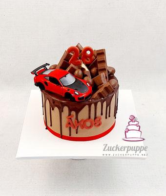 Dripcake mit Porsche GT 3 zum 28. Geburtstag von Àkos