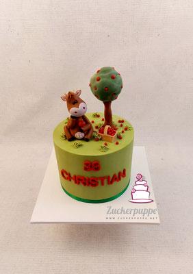 Kuh und Apfelbaum zum 36. Geburtstag von Christian
