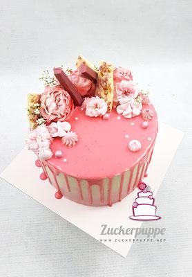 Rosa Dripcake zum 20. Geburtstag von meiner Cousine Sina