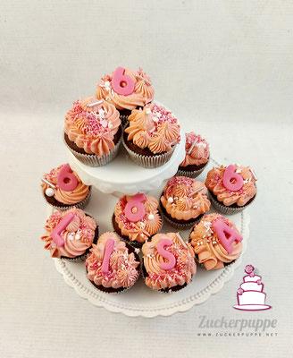 Rosa Cupcakes zum 6.Geburtstag von Lisa