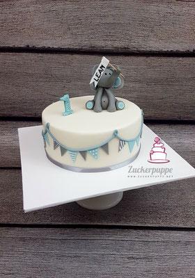 Elefäntchen zum ersten Geburtstag von Lean