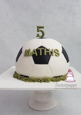 Fussballtorte zum 5. Geburtstag von Mathis
